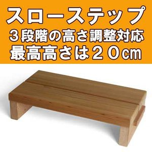 スローステップ500 スローステップ運動用 踏み台 (踏み台昇降ダイエット・認知症予防)|wood