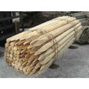 杉・桧杭丸太白木1500・45 5本1セット(造園用・間伐材) |wood