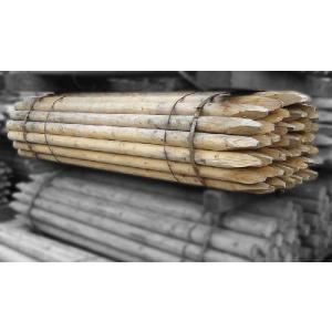 杉・桧杭丸太白木1800・60 5本1セット(造園用・間伐材) |wood