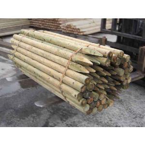 杉・桧ACQ防腐注入杭丸太1800・60 5本1セット(造園用・間伐材)|wood