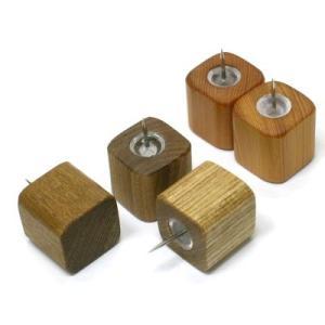 木のピン 小【日本製】木製文具 木の押しピン|wood