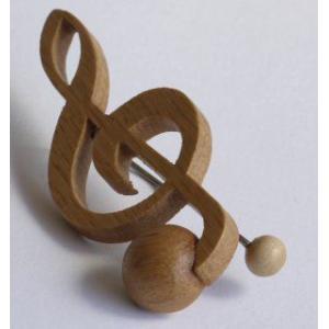 音符クリップ ト音記号:ナラ【日本製】 |wood