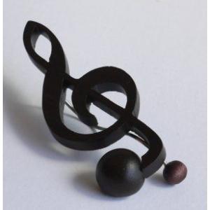 音符クリップ ト音記号:ローズ【日本製】 |wood