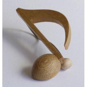 音符クリップ 8分音符:ナラ【日本製】 |wood