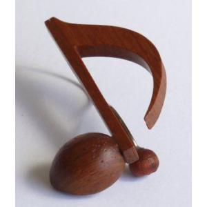 音符クリップ 8分音符:カリン【日本製】|wood