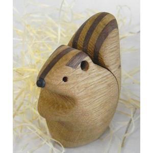 ペーパーウェイト シマリス【日本製】 |wood