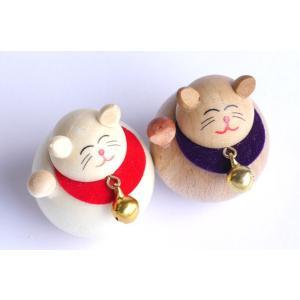 起き上がり 招き猫 (セットではありません) 【日本製】|wood