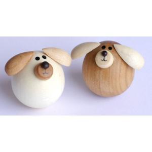 起き上がり いぬ (セットではありません) 【日本製】|wood