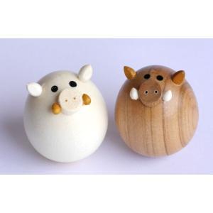 起き上がり いのしし (セットではありません) 【日本製】 |wood