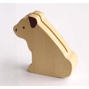 ワンちゃんカードスタンド 木製カードスタンド】|wood