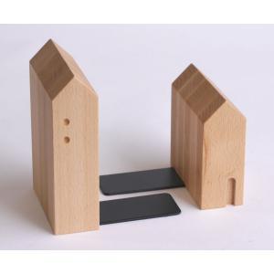 ブックエンド・ビーチ【日本製】木製文具 木の本立て|wood