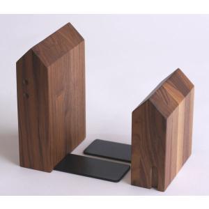 ブックエンド・ウォルナット 【日本製】木製文具 木の本立て|wood