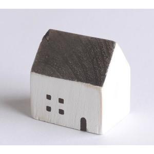 木の家 グレーの屋根 【置物】|wood