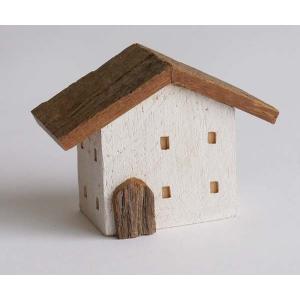 木製小物 木の置物 アンティークハウス wood