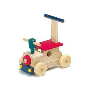 木のおもちゃ 平和工業 木製 押し車 カラフルロコKH-601 woodayice