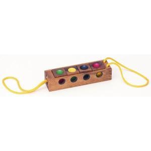 木のおもちゃ 平和工業 木製パズル カラーキューブ4CP-01|woodayice