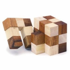 木のおもちゃ 平和工業 木製パズル スネークキューブCP-05|woodayice