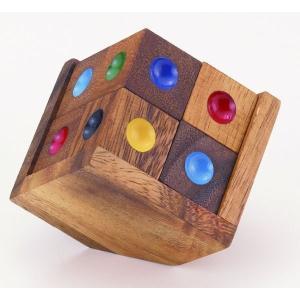 木のおもちゃ 平和工業 木製パズル カラーキューブ8CP-07|woodayice