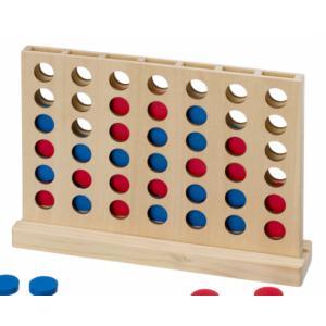 木のおもちゃ 平和工業 木製知育玩具 対面四目並べ K-07|woodayice