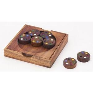 木のおもちゃ 平和工業 木製パズル カラーマッチラウンドCP-09|woodayice
