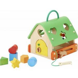 木のおもちゃ エド・インター 木製知育玩具 おそびのおうち808726|woodayice