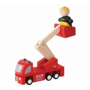 木のおもちゃ プラントイジャパンPLANTOYS 木製車両・列車玩具 消防車6234|woodayice