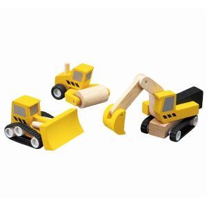 木のおもちゃ プラントイジャパンPLANTOYS 木製車両・列車玩具 ロードコンストラクションセット  6014|woodayice