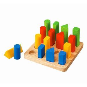 木のおもちゃ プラントイジャパンPLANTOYS 木製知育玩具 幾何学ペグボード5125|woodayice