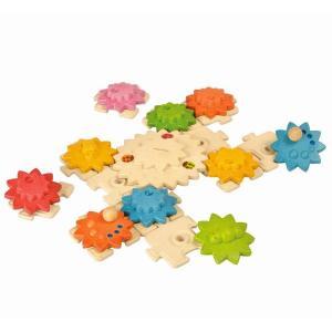 木のおもちゃ プラントイジャパンPLANTOYS 木製知育玩具 木製 ギアパズル デラックス5636|woodayice