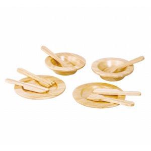 木のおもちゃ プラントイジャパンPLANTOYS 木製おままごと 食器セット3414 woodayice
