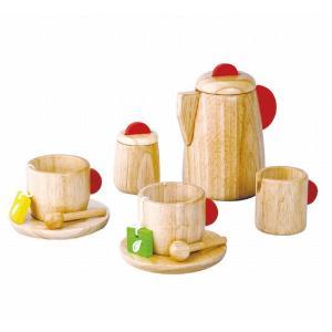 木のおもちゃ プラントイジャパンPLANTOYS 木製おままごと ティーセット3433 woodayice