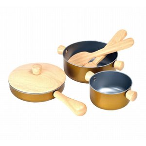 木のおもちゃ プラントイジャパンPLANTOYS 木製おままごと 調理用具セット3413 woodayice
