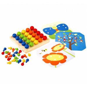 木のおもちゃ プラントイジャパンPLANTOYS 木製知育玩具 クリエイティブペグボード5162|woodayice