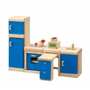 木のおもちゃ プラントイジャパンPLANTOYS 木製おままごと カラーキッチン7310|woodayice