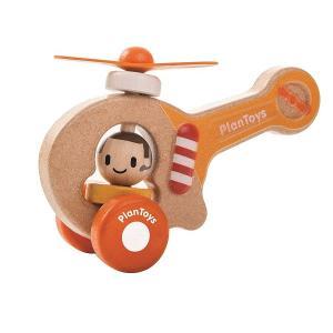 木のおもちゃ プラントイジャパンPLANTOYS 木製車両・列車玩具 ヘリコプター5685|woodayice