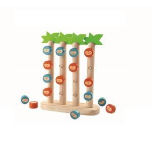 木のおもちゃ プラントイジャパンPLANTOYS 木製知育玩具 おさるの四目並べ4612|woodayice