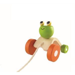 木のおもちゃ プラントイジャパン PLANTOYS 木製知育玩具 ジャンビングフロッグ5702|woodayice