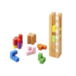 木のおもちゃ エド・インター 木製知育玩具 育脳タワー812327|woodayice