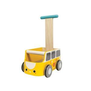 木のおもちゃ プラントイジャパンPLANTOYS 木製 押し車 バンウォーカーイエロー5184 woodayice