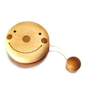 木のおもちゃ 山のくじら舎 木製 知育玩具 ヨーヨー(フェイス)|woodayice