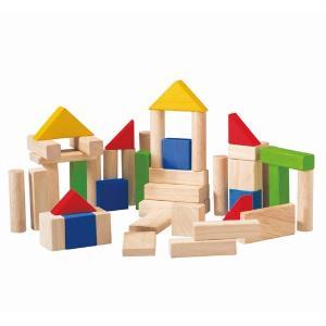 木のおもちゃ プラントイジャパンPLANTOYS 木製積み木 50ブロック5535|woodayice