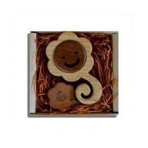 木のおもちゃ ブータレブー 木製 ベビートイ うずまきラトル・花|woodayice