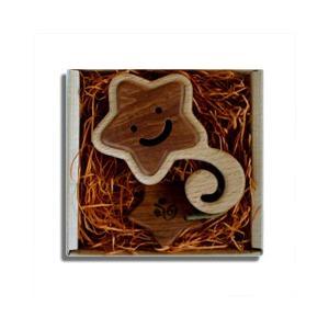 木のおもちゃ ブータレブー 木製 ベビートイ うずまきラトル・星|woodayice