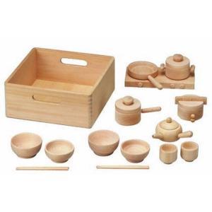木のおもちゃ 平和工業 木製おままごと 森のままごとW-32|woodayice