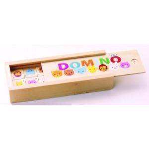 木のおもちゃ 平和工業 木製 知育玩具 ドミノ 動物FG-07|woodayice