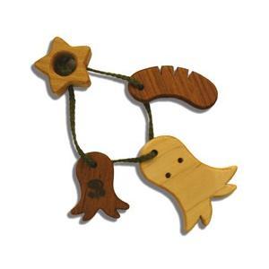 木のおもちゃ ブータレブー 木製 ベビートイ 木のはがため・タコ|woodayice