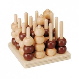 木のおもちゃ 平和工業 木製 パズル 立体4目ならべEH-06|woodayice