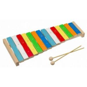 木のおもちゃ 平和工業 木製楽器 森のシロホン 14音W-65|woodayice