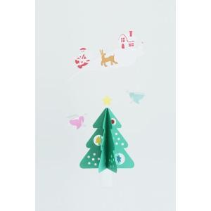 紙のおもちゃ マニュモビールズ 紙製 天使とモミの木|woodayice