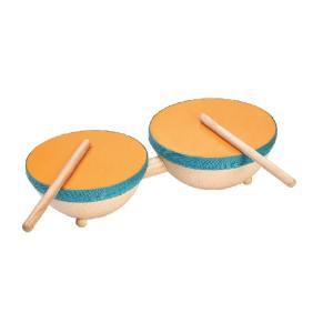 木のおもちゃ プラントイジャパンPLANTOYS 木製 楽器 ダブルドラム6425 woodayice